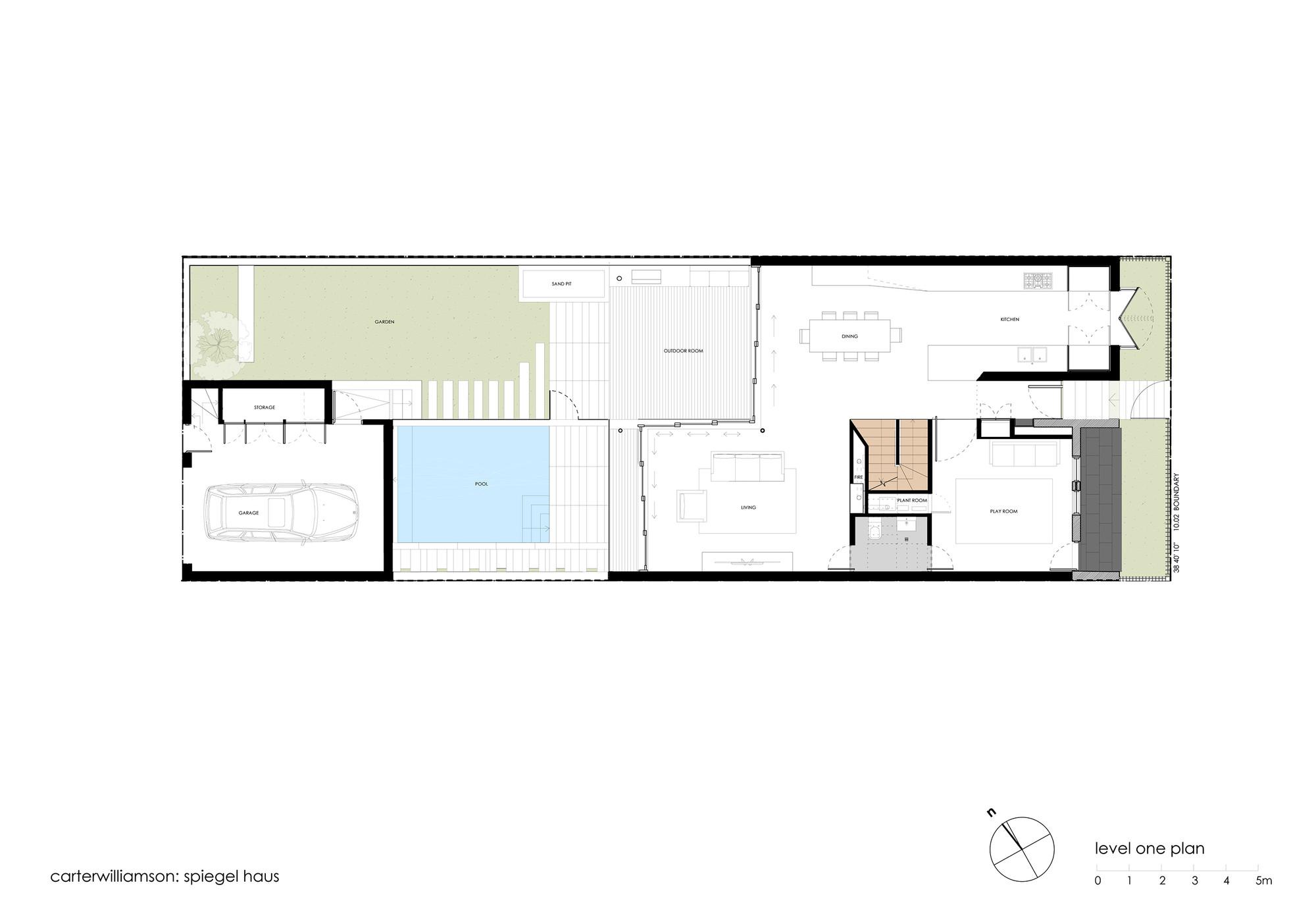 Spiegel Haus,First Floor Plan