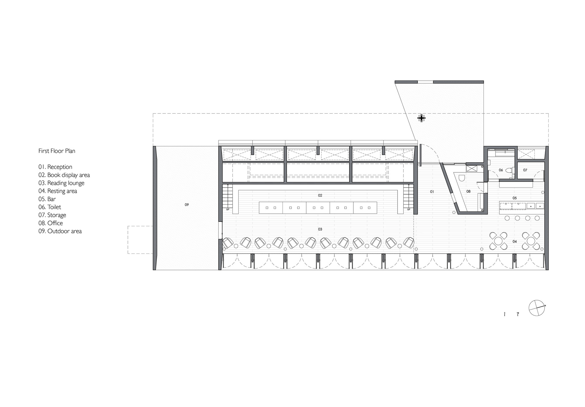 Seashore Library / Vector Architects. 36 / 48. First Floor Plan