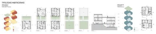 Tipologias habitacionais. Image Cortesia de Bacco Arquitetos Associados