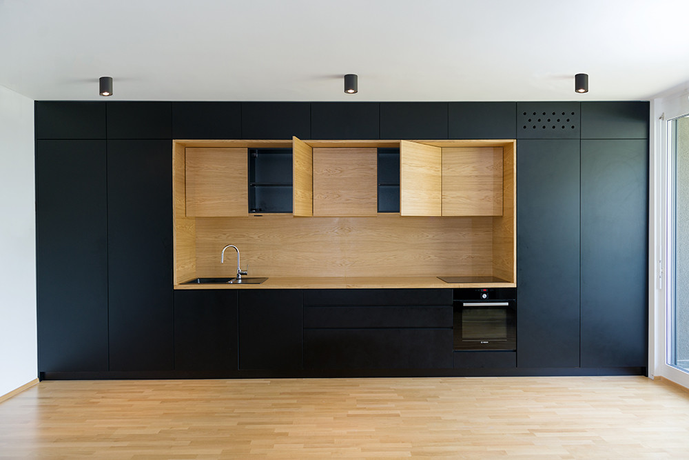 Gallery Of Black Line Apartment Arhitektura D O O 8
