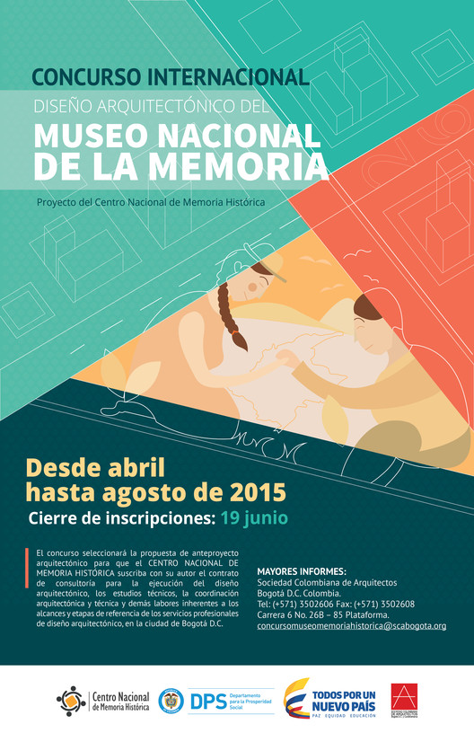 Convocatoria pública e internacional para el diseño del Museo Nacional de la Memoria en Colombia