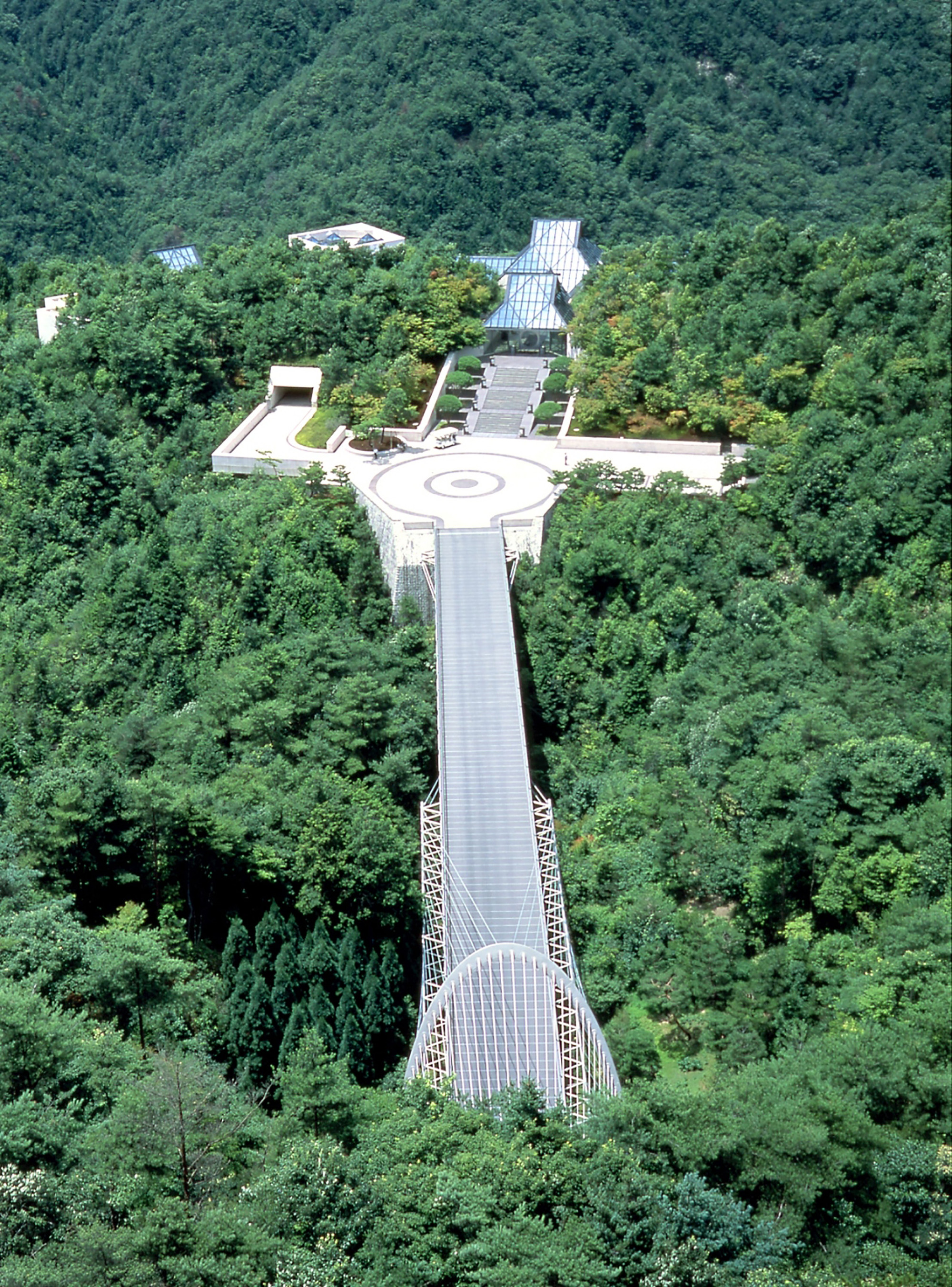 Ioh Ming Pei, Aerial view of the Miho museum