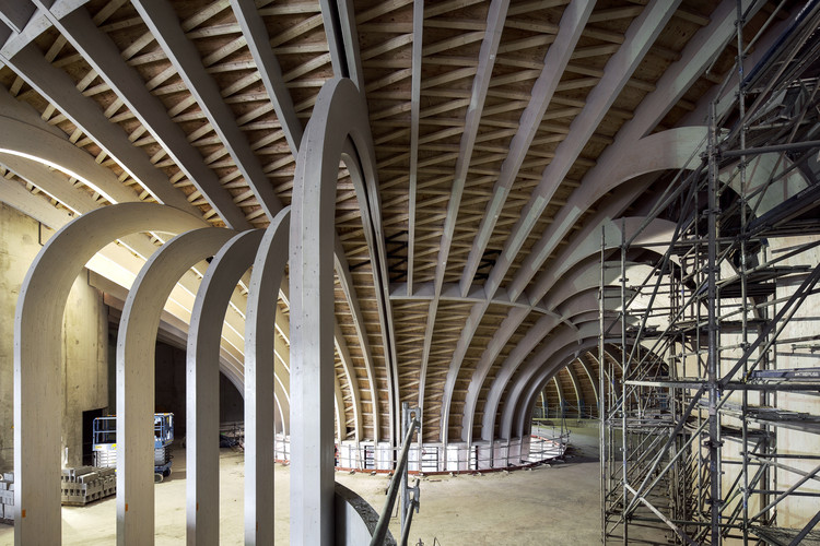 French Wine Civilizations Museum / XTU Architects, Wooden Structure. Image Courtesy of XTU Architects