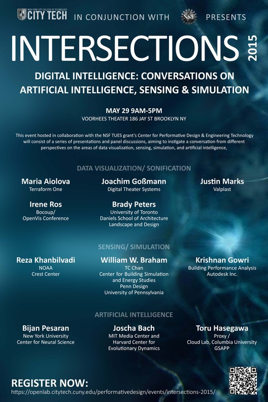 Intersections 2015, DIGITAL INTELLIGENCE: CONVERSATIONS ON ARTIFICIAL INTELLIGENCE, SENSING & SIMULATION