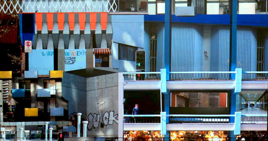 Cancha / Santiago Centro: territorio, arte y arquitectura, Estudio de Fachadas y situaciones. Mono Lira f, Javier Lewin / Presente. Image Cortesia de CANCHA
