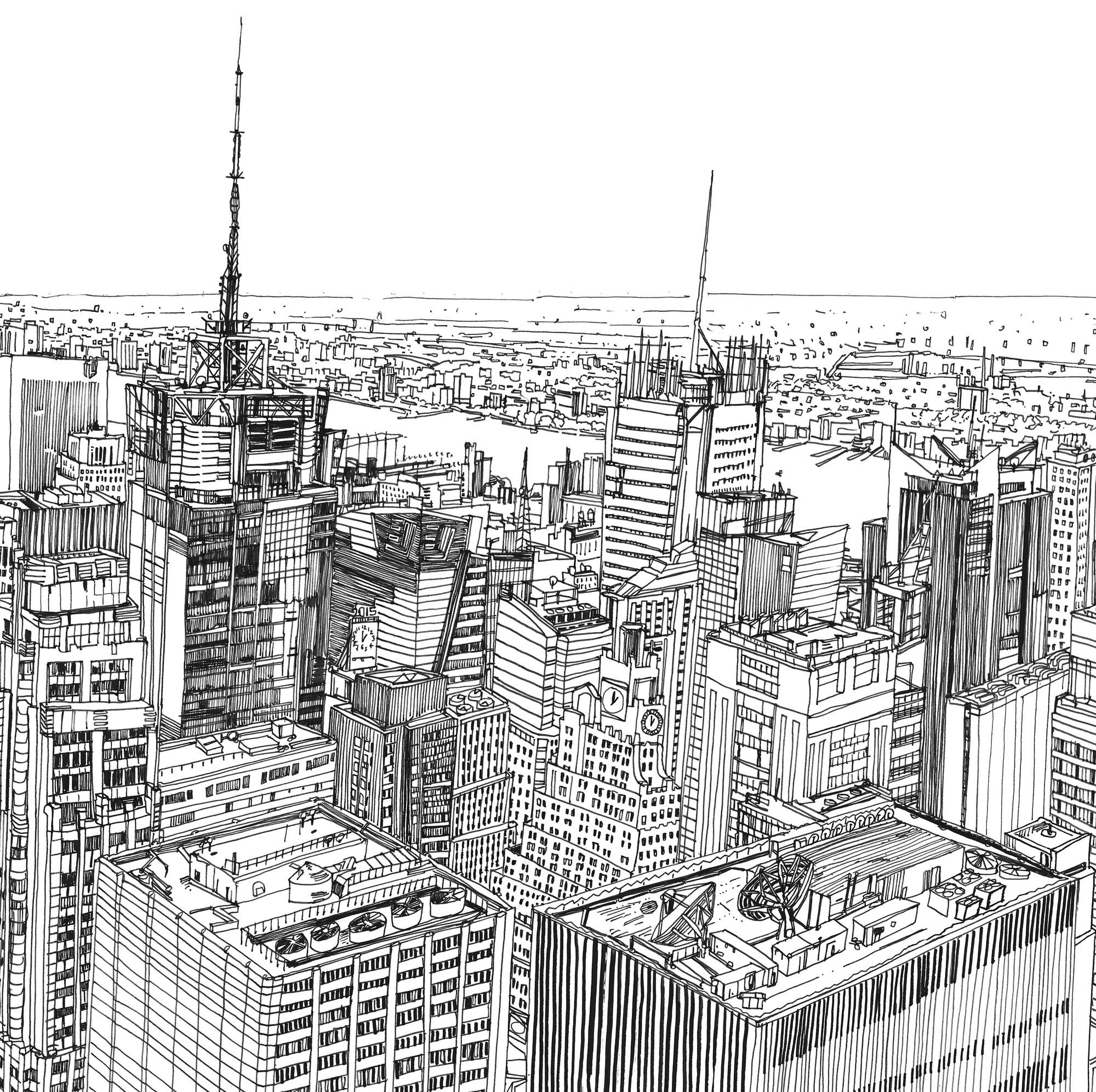 dibujo que hace renacer a Nueva York por Patrick Vale