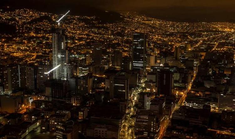 BD Bacatá se convierte en el segundo rascacielos más alto de Sudamérica, Bogotá: BD Bacatá en construcción. Image vía Prabyc Ingenieros [Twitter user]