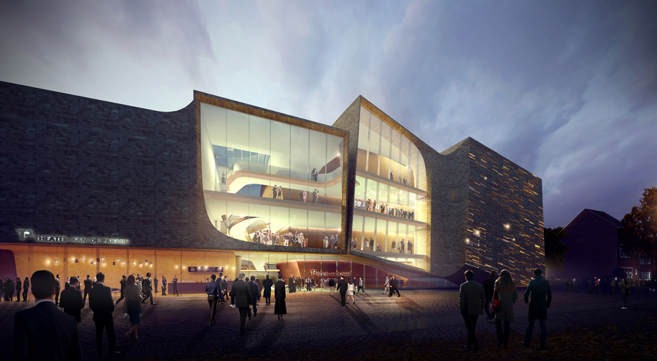UNStudio and EHA Compete to Design 's-Hertogenbosch's City Center Theater, © UNStudio