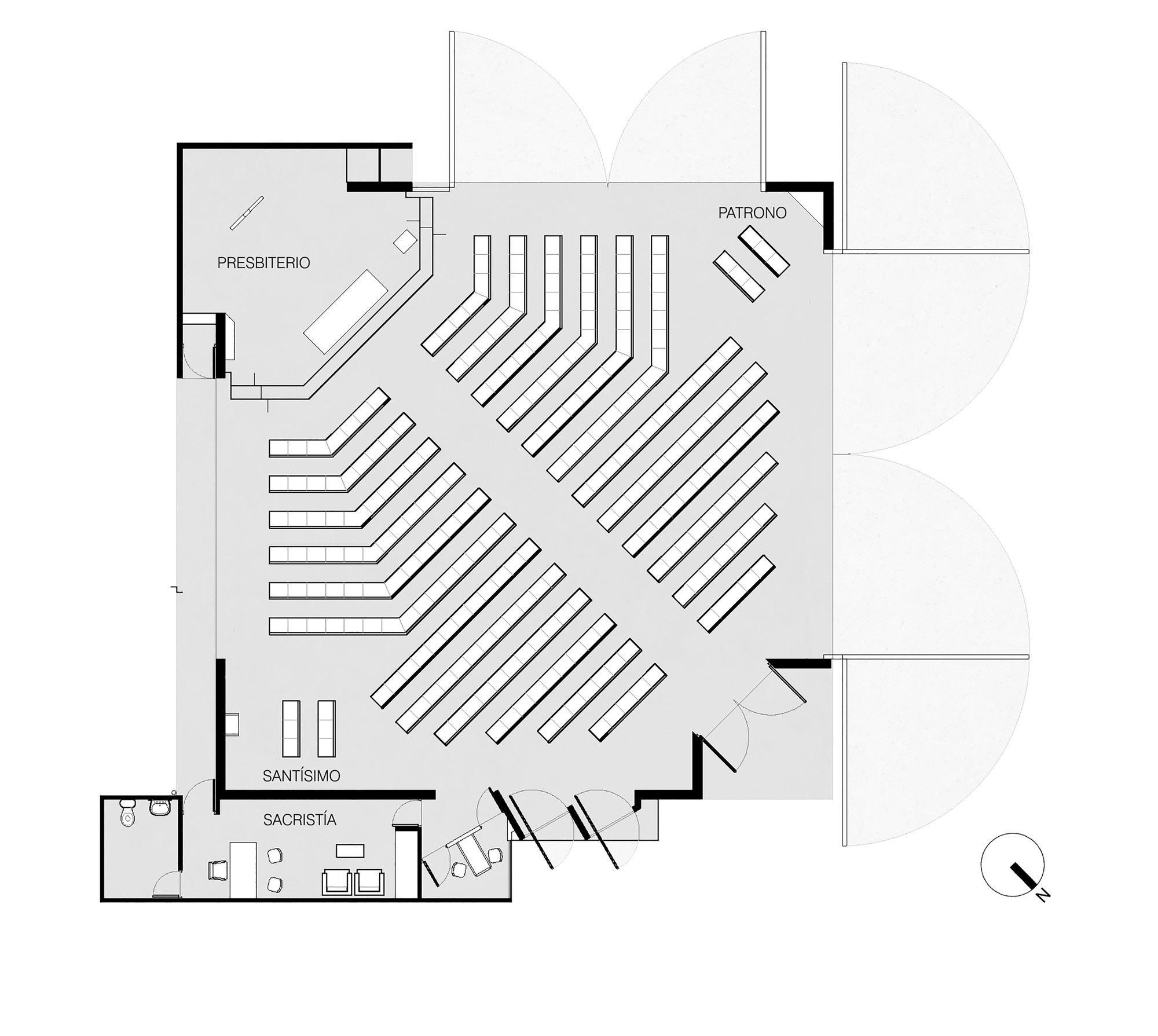 Capilla san alberto magno juan pavez aguilar jos for Dimensiones arquitectonicas