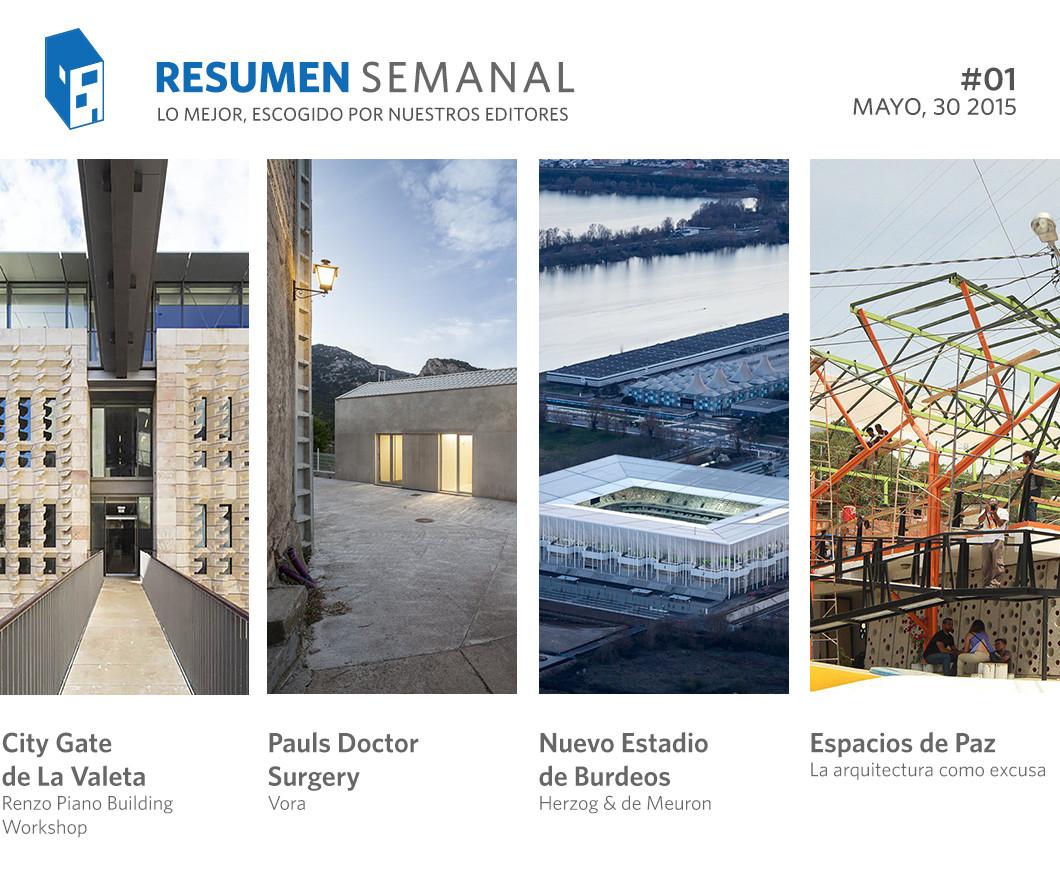 Resumen Semanal: Renzo Piano en Malta, la arquitectura como excusa y 12 fórmulas de Excel que debes conocer