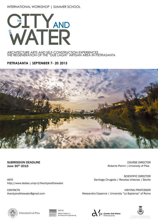 """""""The City and The Water"""" Summer School, September 2015 International Workshop THE CITY AND THE WATER . Architecture, arts andd self construction experiences for a new artisan area in Pietrasanta. photo by Paolo Vezzoni © 2015 - zero+ studio creativo"""