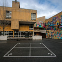 Play area behind the school with entry ramp, Cambridge, 2013. Image © Lee Dykxhoorn