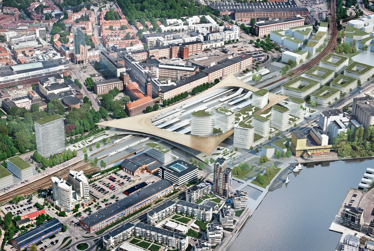 BIG to Redevelop Västerås Transportation Hub