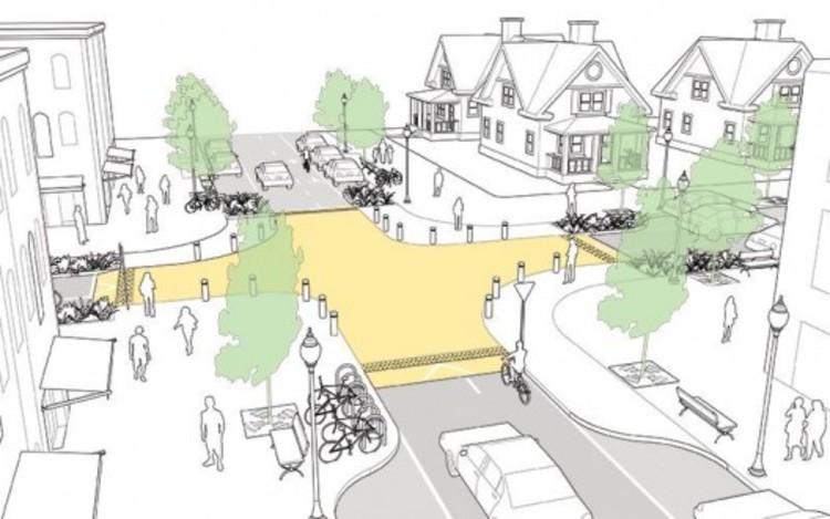 Quatro dicas para projetar cruzamentos mais seguros, Intersección Elevada. Image © Plataforma Urbana