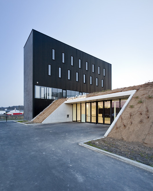Anndenne S Cultural Center Label Architecture Archdaily