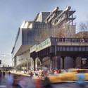 The Relationship between the Whitney Museum and the Southern End of the High Line. Image © Nic Lehoux