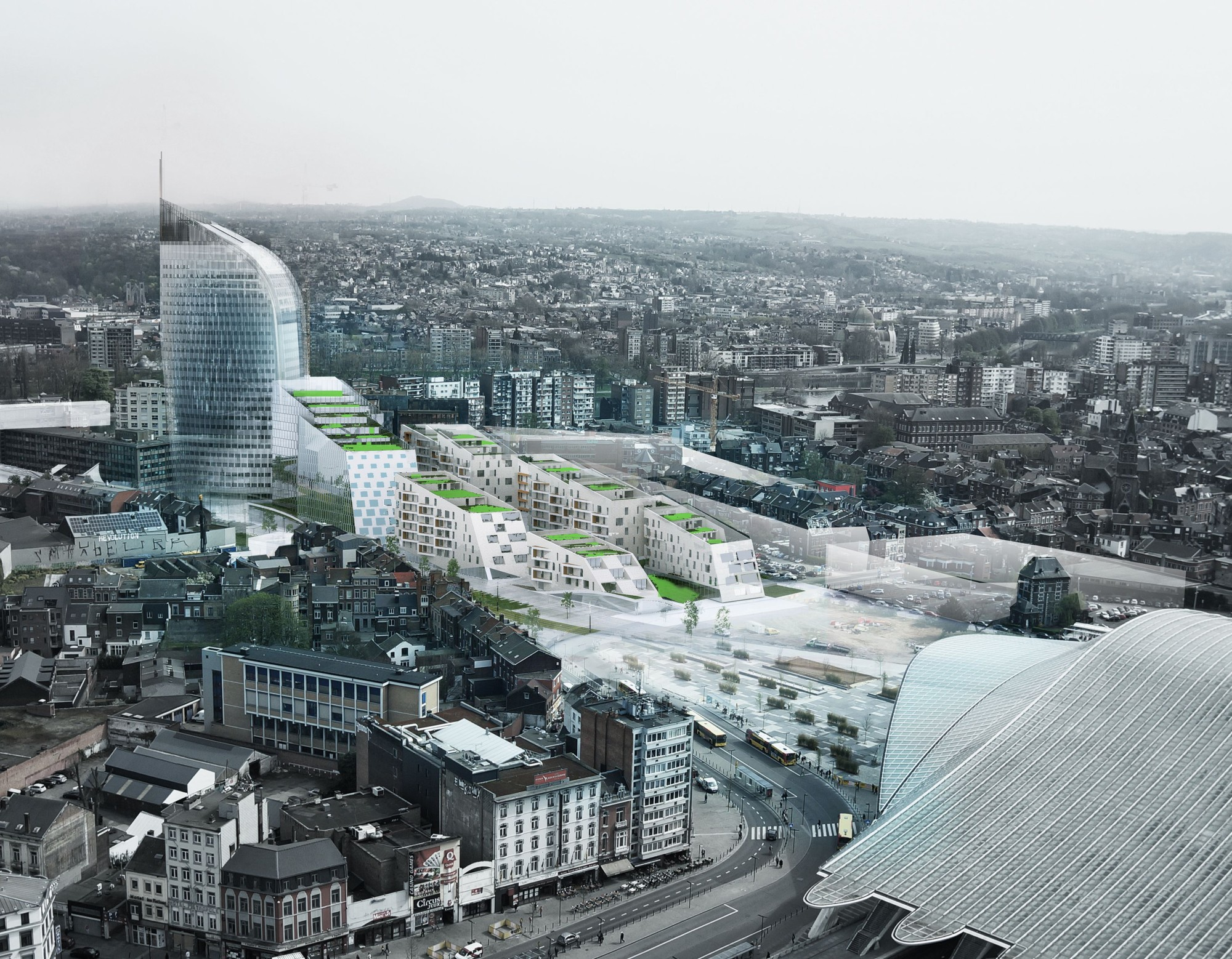 A2M, Jaspers-Eyers Architects and BAG Design Eco-Neighborhood for Belgium, Urban Context. Image Courtesy of A2M