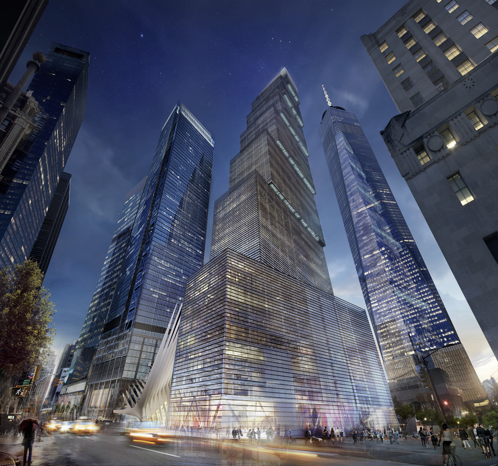 BIG Replaces Foster, Unveils Plans for 2 World Trade Center, © DBOX, Courtesy of BIG