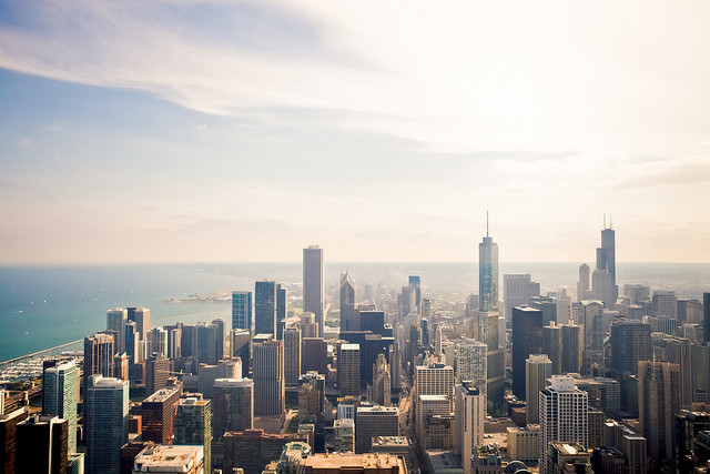 Studio Gang to Design Net Positive Energy Campus for Chicago Children's Academy, Chicago Skyline. Image © Flickr CC User Derek Key