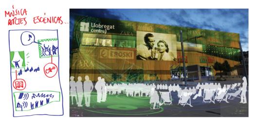 Actividades culturales y creativas asociadas al centro comercial. Image Cortesía de Ecosistema Urbano