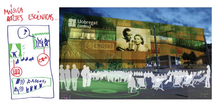 Atividades culturais e criativas associadas ao comércio. Image © Ecosistema Urbano