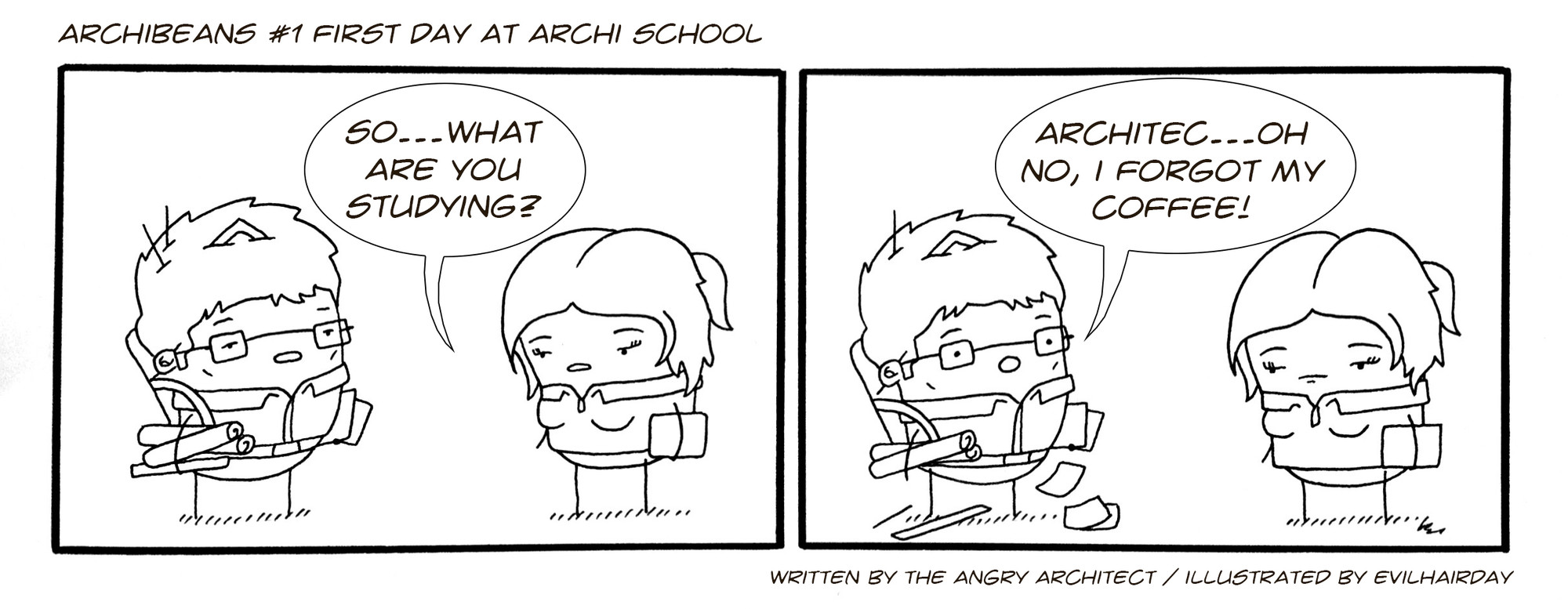 Architect Student archibeans comic grants a light-hearted glimpse into life as an