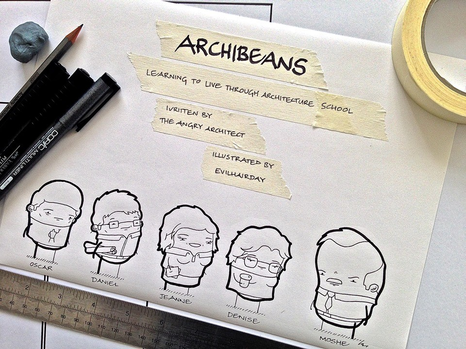 Archibeans Comic Grants a Light-Hearted Glimpse into Life as an Architecture Student, Courtesy of The Angry Architect