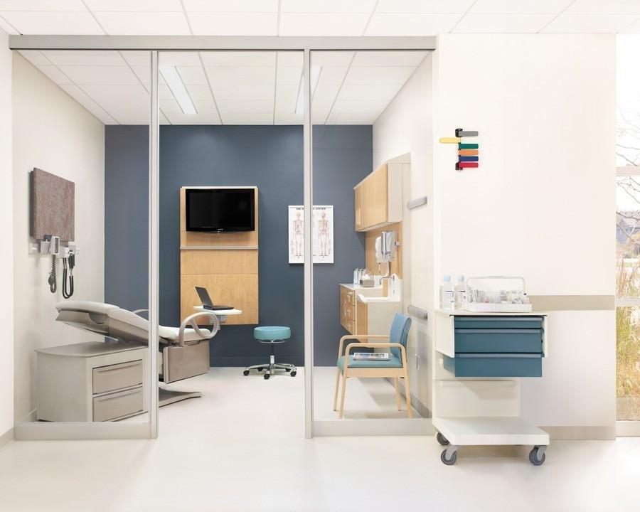 Materiales: Especial / Productos para Edificios Hospitalarios, Gabinetería de Healing Spaces / Herman Miller