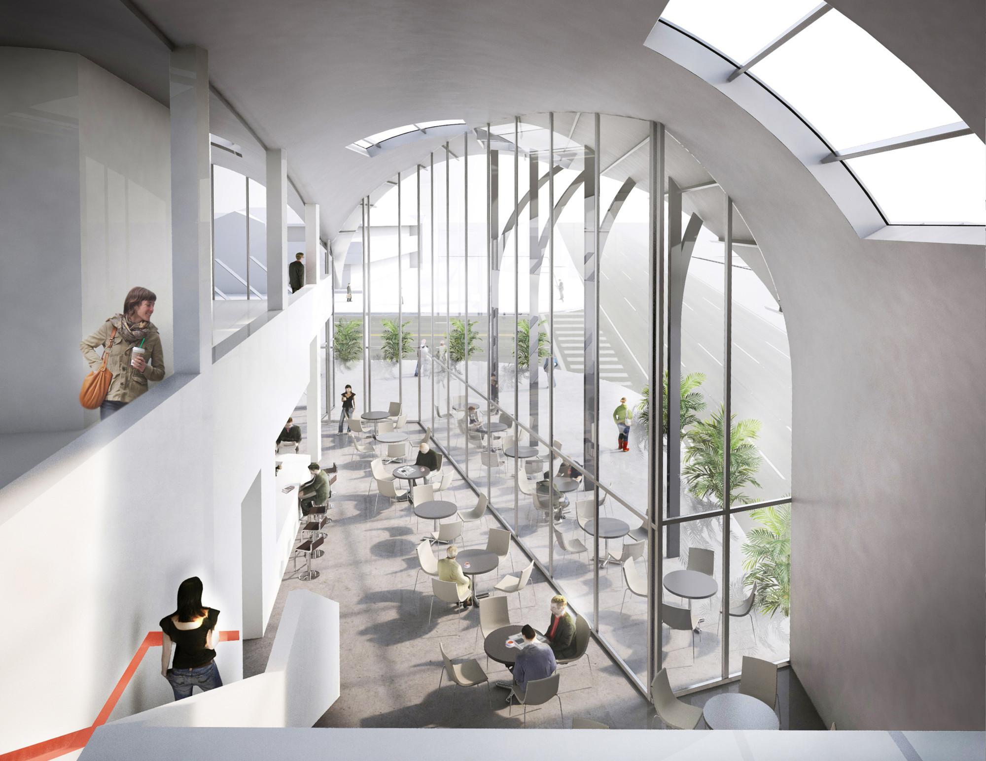 Competition Entry: AECOM Proposes Transport Center For Solana  Beach,Courtesy Of AECOM LA Design