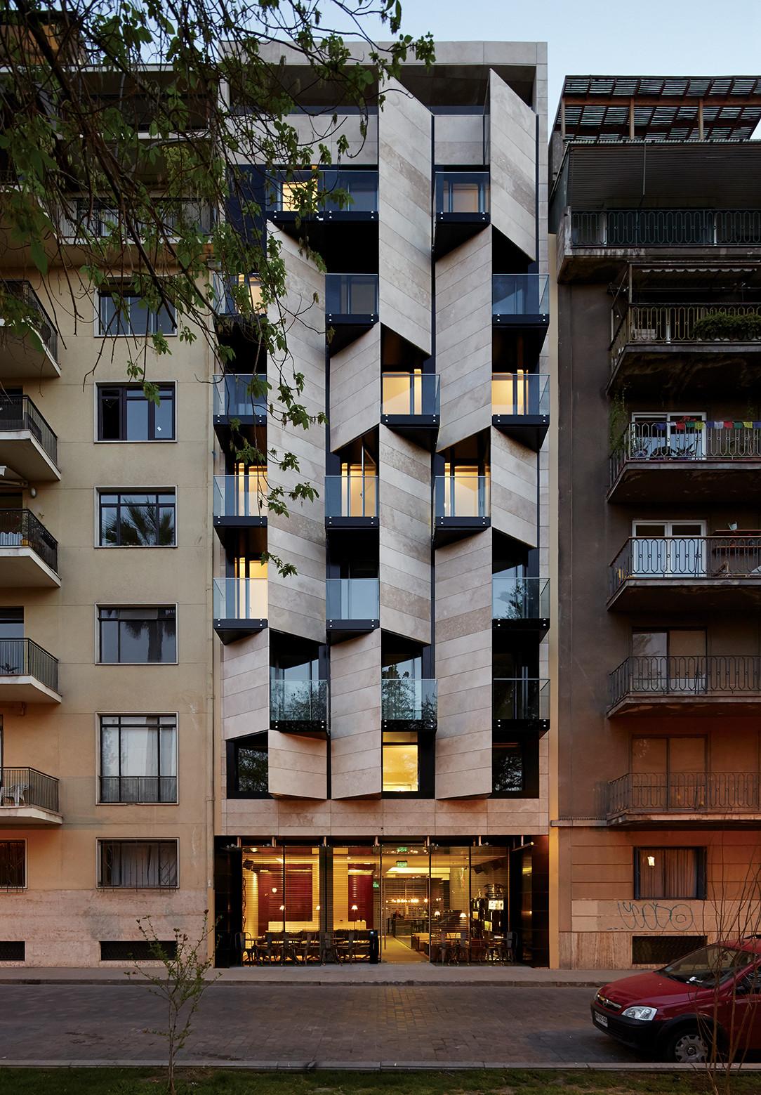 Galer a de apart hotel ismael 312 estudio larrain 6 for Hotel design facade