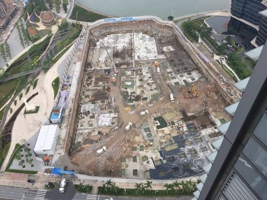 Site in Shekou as of mid-2015. Image © China Merchants Property Development, Maki & Associates