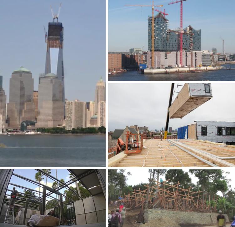 Dez vídeos em timelapse que exploram a relação entre construção e arquitetura