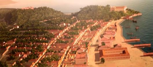 Rio de Janeiro tem sua história contada através de documentário, Cidade em expansão em direção ao mar no século XVII. Screenshot do filme. Via G1