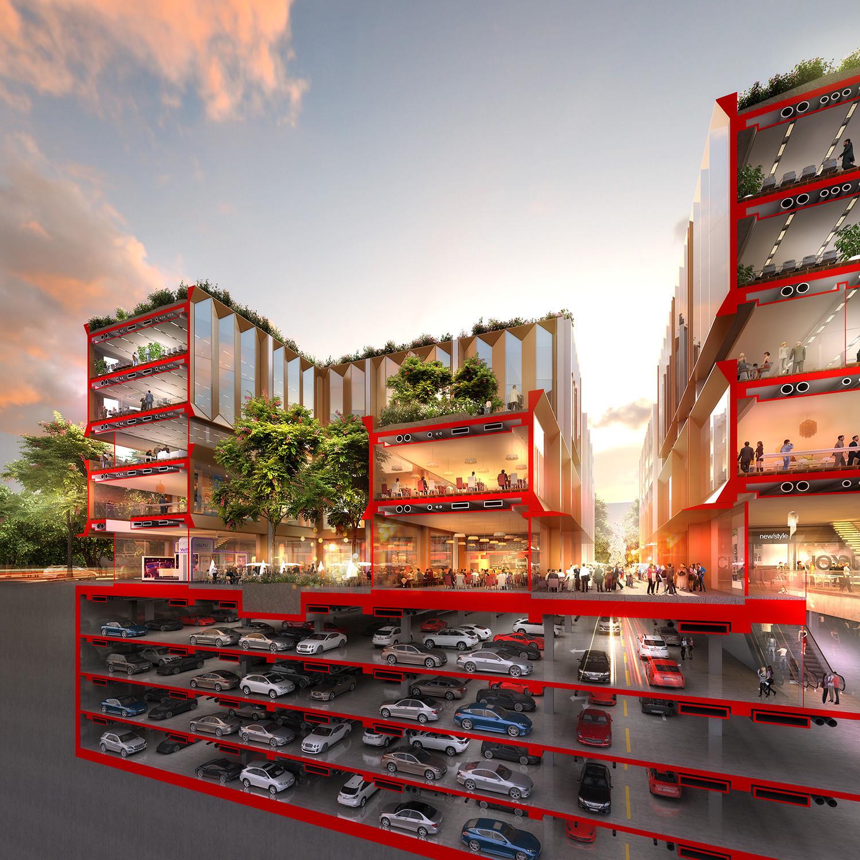 Foster + Partners desarrolla plan maestro de nuevo distrito financiero de 147.000 metros cuadrados en Wuhan, © Foster + Partners