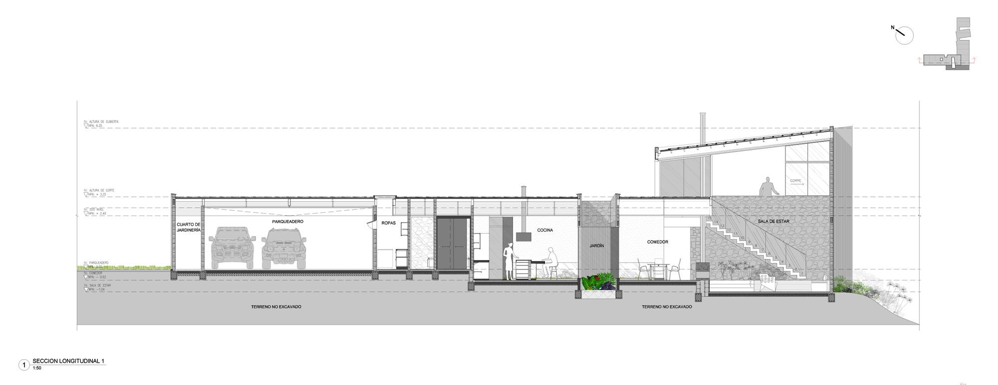 Galeria de casa entre jardins planta baja estudio de for Arq estudio de arquitectura