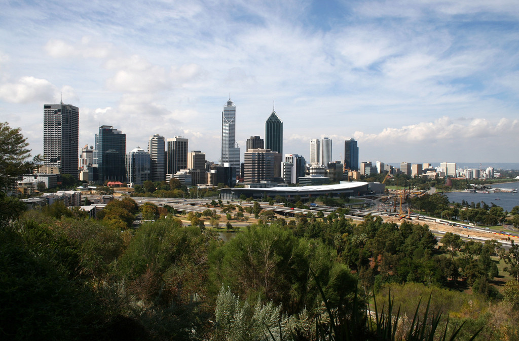 Foster, Nouvel and Koolhaas Compete to Design Perth's WA Museum, Perth skyline. Image © Flickr CC User Ole Reidar Johansen