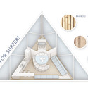 Axonometric Diagram and Materials. Image Courtesy of Barberio Colella ARC