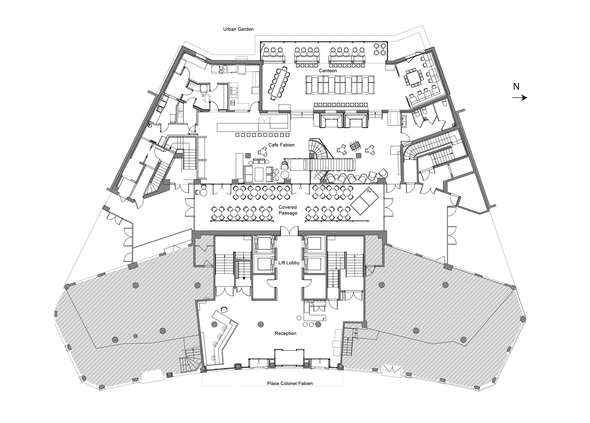 Generator Paris / DesignAgency. 22 / 24. Ground Floor Plan