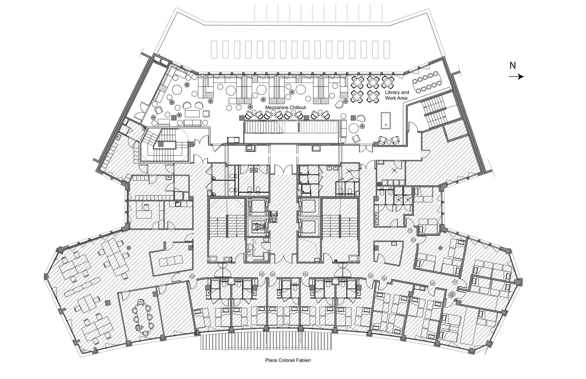 Generator Paris / DesignAgency. 23 / 24. First Floor Plan