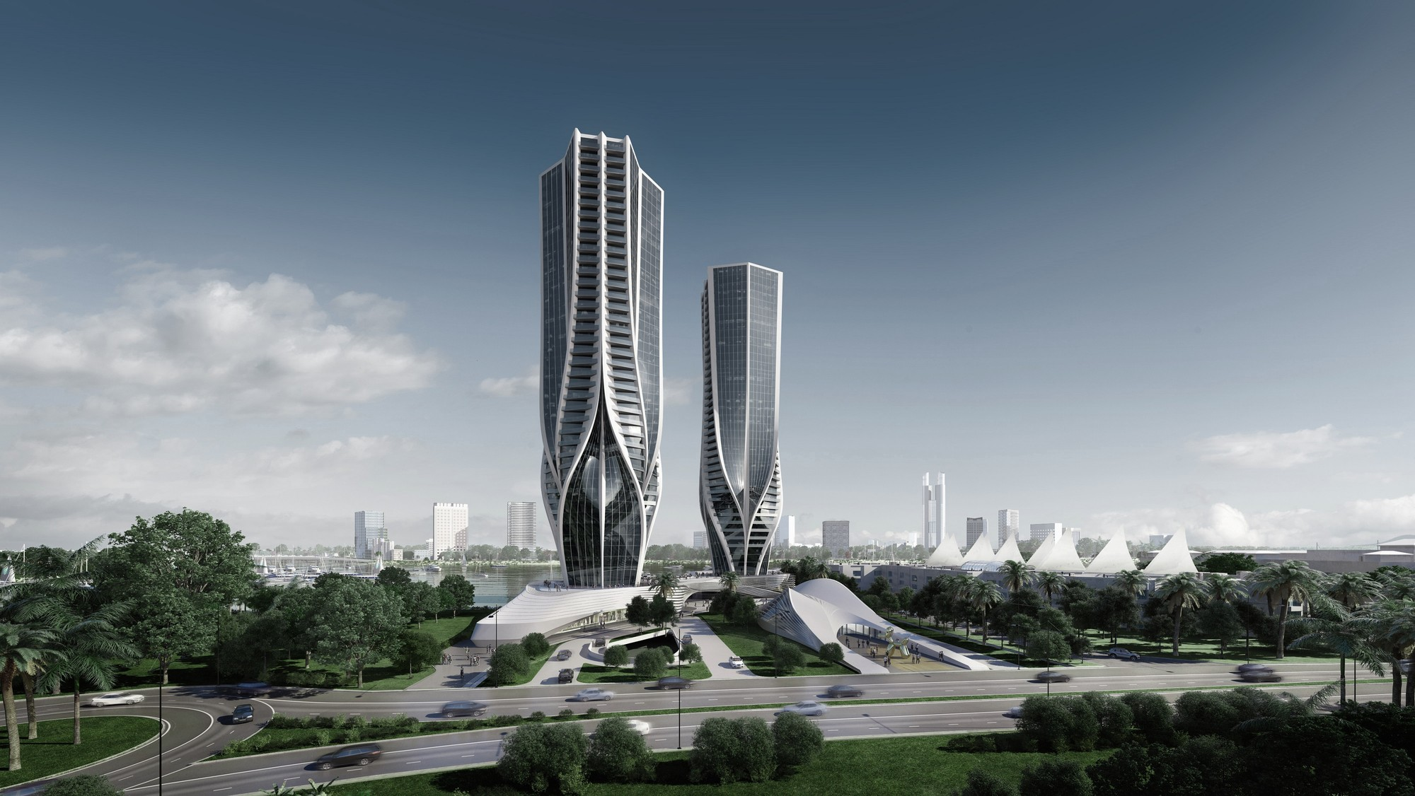 """Zaha Hadid Designs Two """"Sculptural"""" Towers for Australia's ..."""