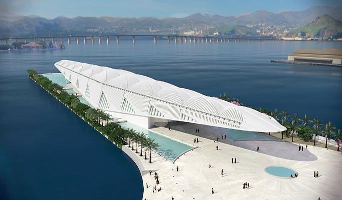 Projeto de Calatrava no Rio, Museu do Amanhã está próximo de ser concluído, Museu do Amanhã. Fonte: Divulgação