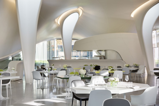 Restaurant/Bar in Another Space: The Magazine (London). Image © Zaha Hadid Architects
