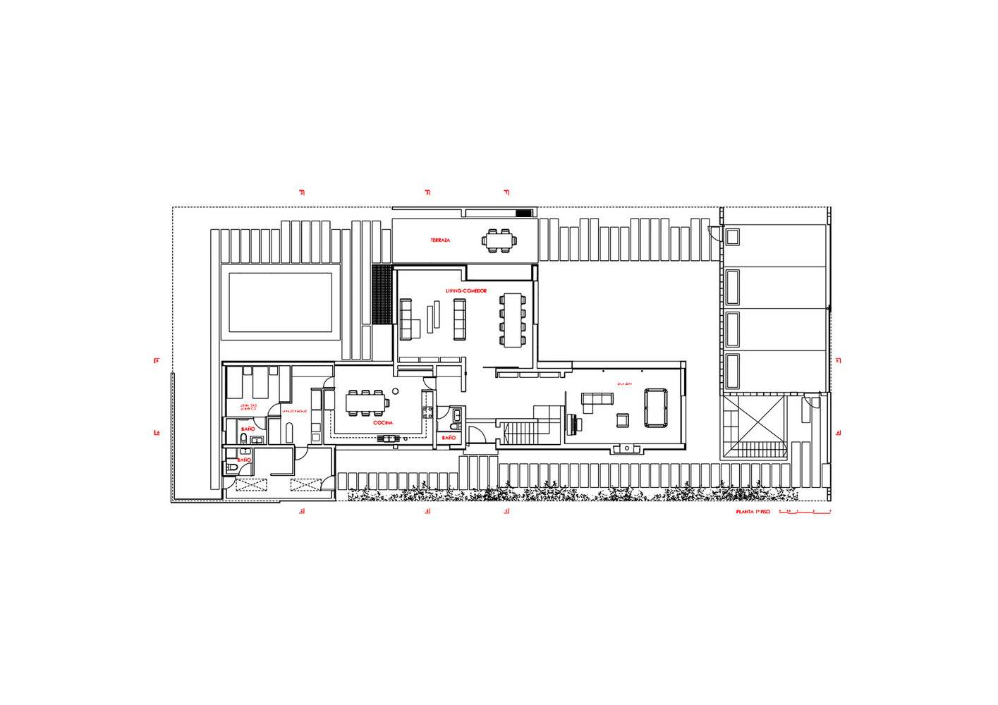 V House,First Floor Plan