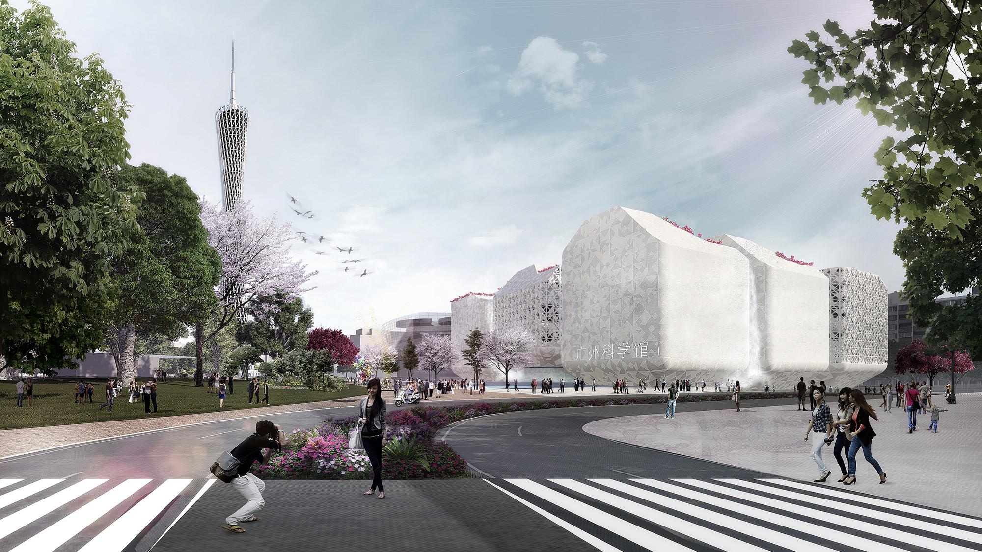 Nieto Sobejano Wins Competition to Design New Guangzhou Science Museum, Guangzhou Science Museum. Image Courtesy of Nieto Sobejano Arquitectos