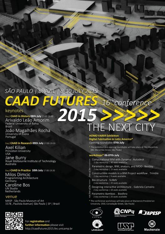 """Congresso internacional """"CAAD Futures - The Next City"""", em São Paulo"""