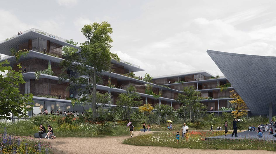 "Zeller & Moye Designs ""Flower Terraces"" Housing in Ruichang, Courtesy of Zeller & Moye"