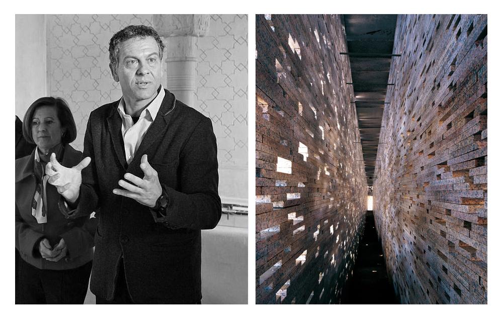 Fallece el arquitecto y académico español Antonio Jiménez Torrecillas, via @alhambracultura [izquierda] y © David Arredondo y Alberto García [derecha]. ImageAntonio Jiménez Torrecillas y Muralla Nazarí en el Alto Albaicín