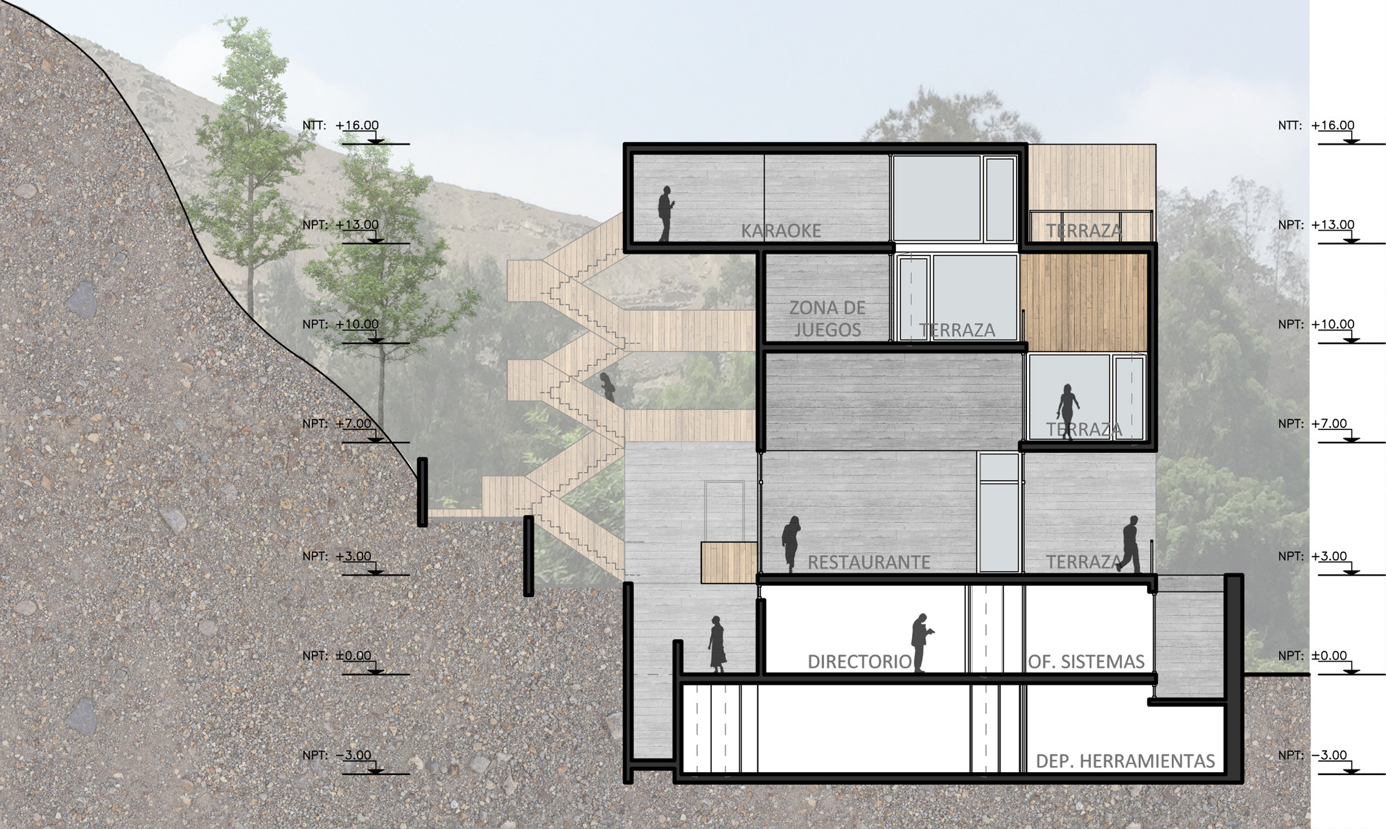 Galer a de seinfeld arquitectos tandem arquitectura for Arquitectura nota de corte