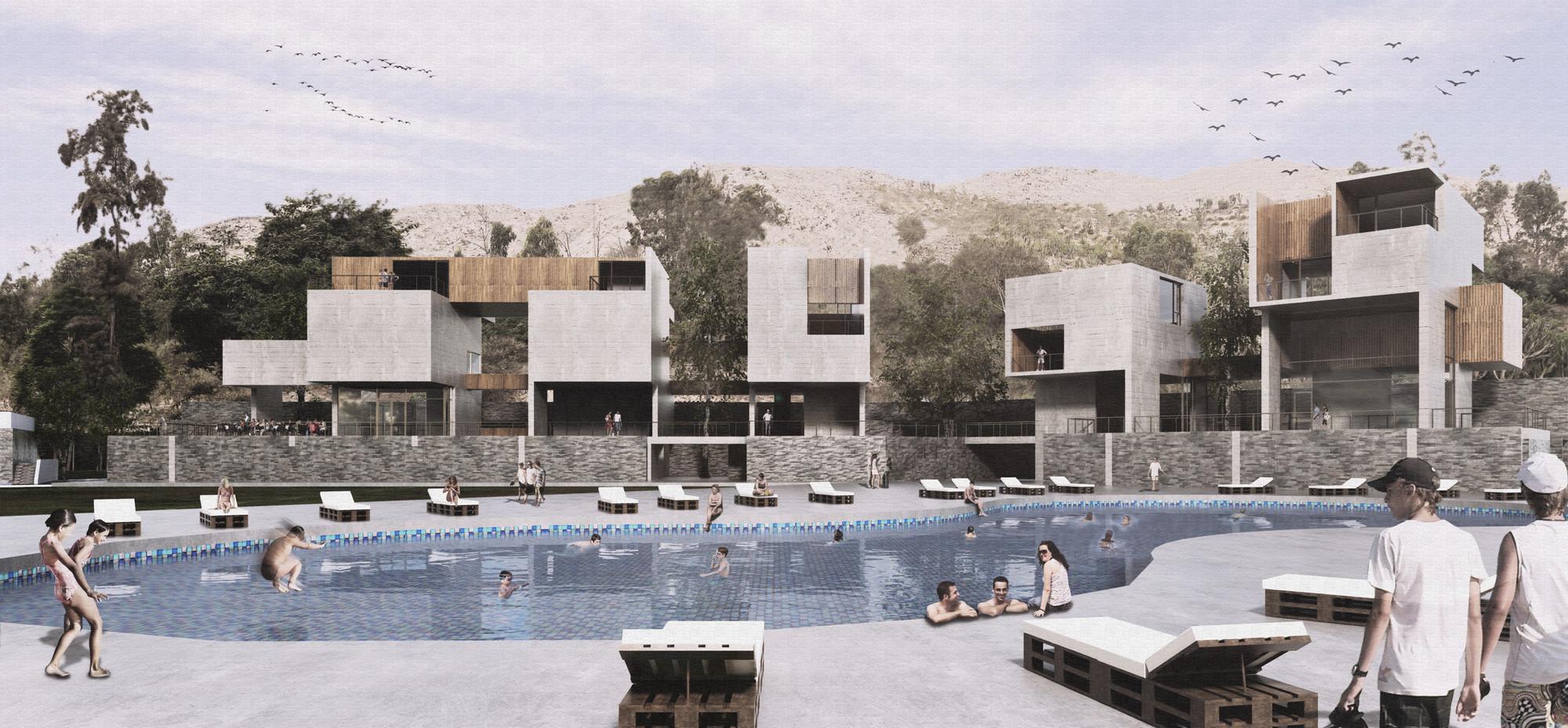 Seinfeld Arquitectos + Tandem Arquitectura, mención honrosa en concurso de nuevo edificio de Rinconada Club, Cortesia de Tandem Arquitectura y Seinfeld Arquitectos