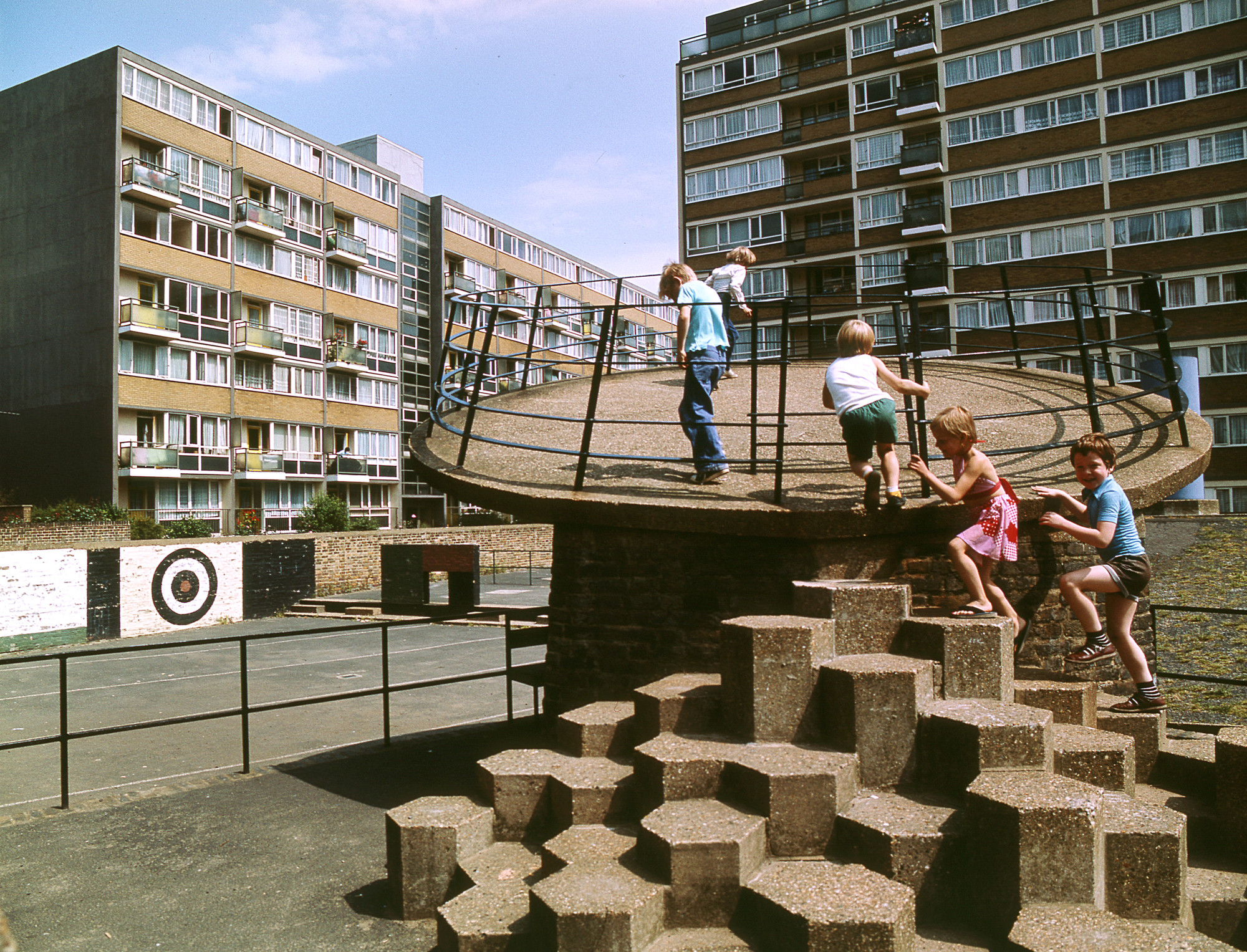 Monocle 24 Investigates Playful Design and the Role of Luck in Shaping our Cities, Churchill Gardens Estate, London. Image © John Donat
